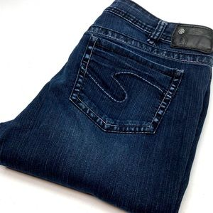 SILVER AIKO BABY BOOT JEANS 34x31 NO SPANDEX 🦋